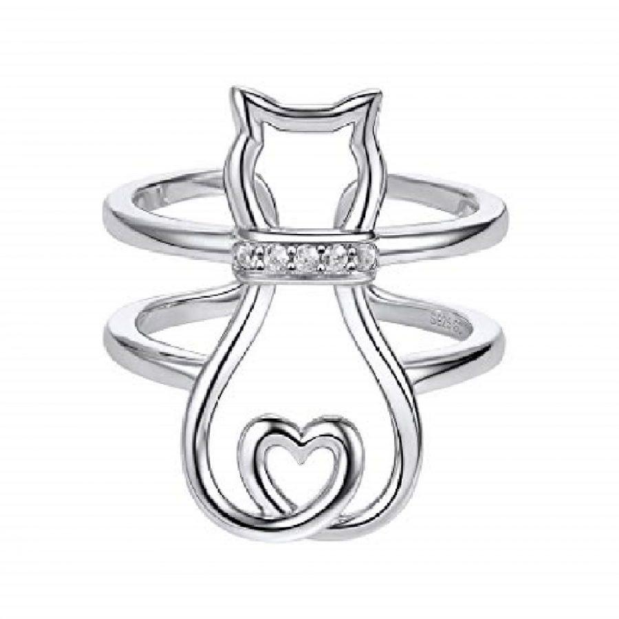 anillos para mujer juveniles de gatos
