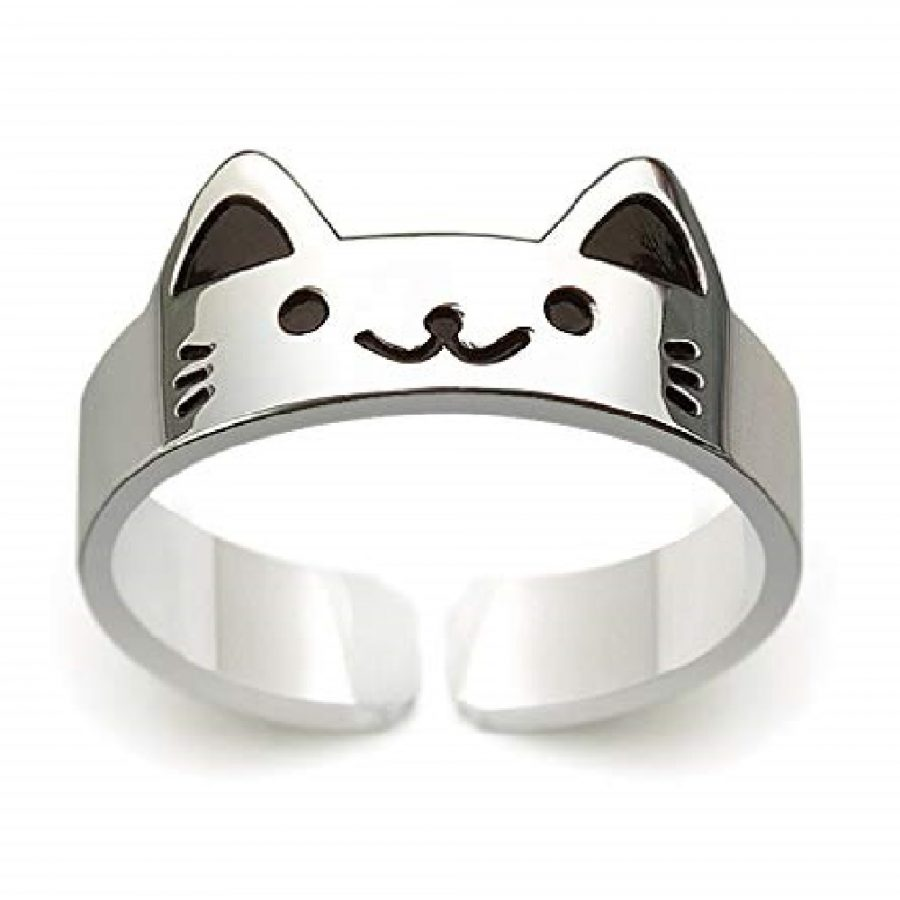 anillo de huella de gato