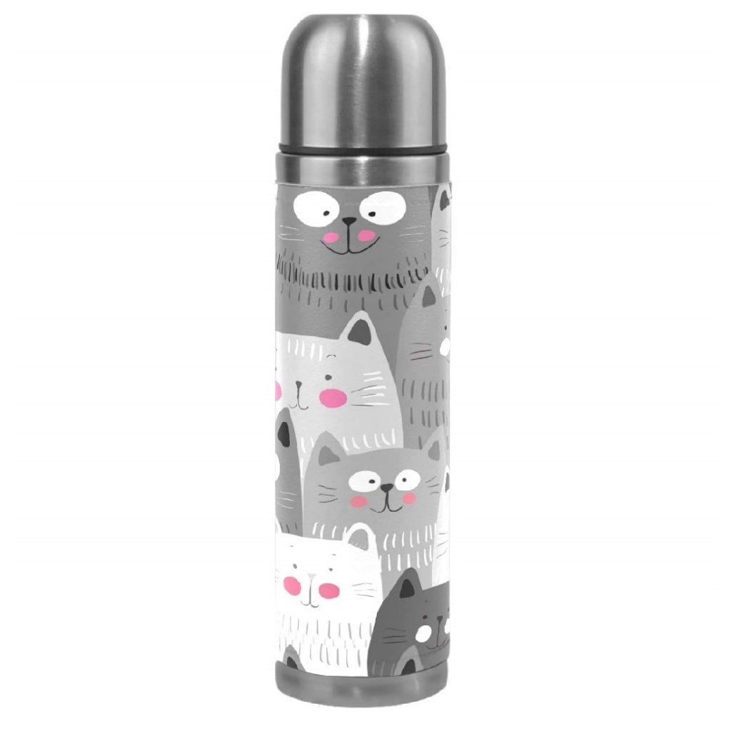 botellas de agua deportivas personalizadas de gatos