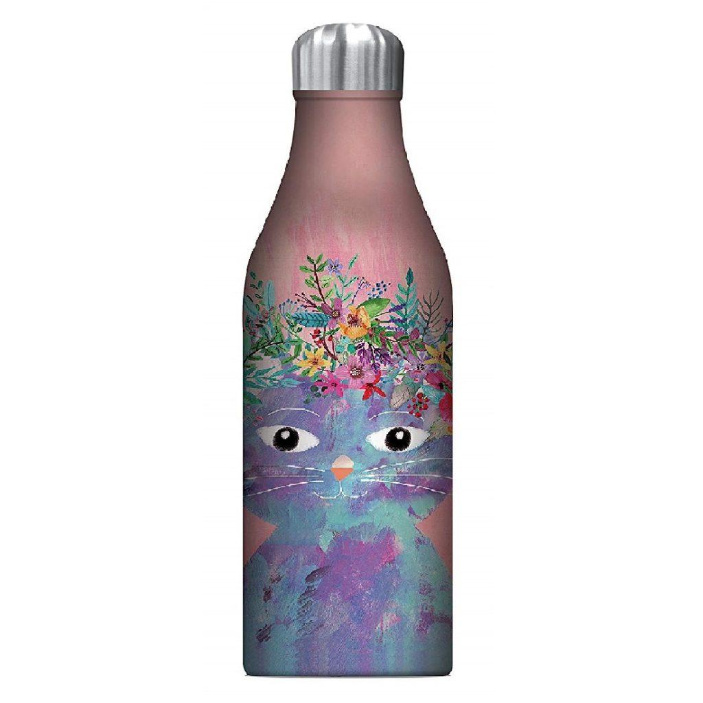 sublimación botella de aluminio de gatos