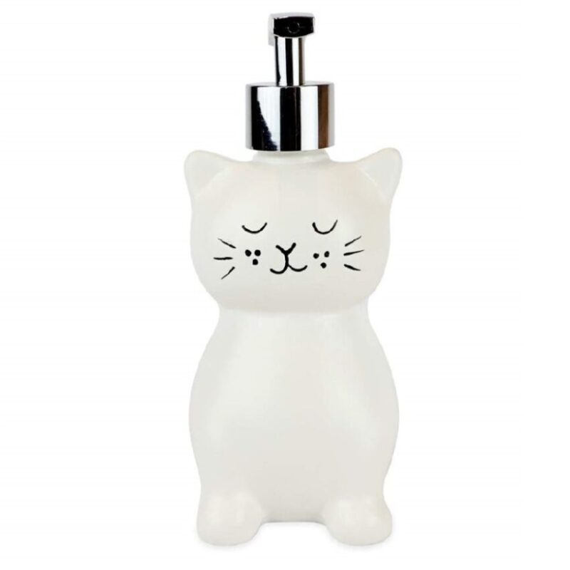 dispensador de jabón liquido para baños de gatos