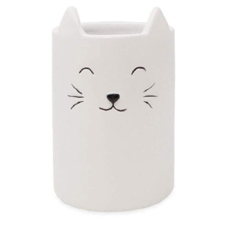 vaso de cerámica para baño de gatos