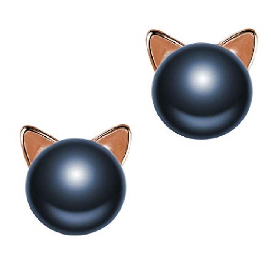 aretes de perlas grandes de gatos