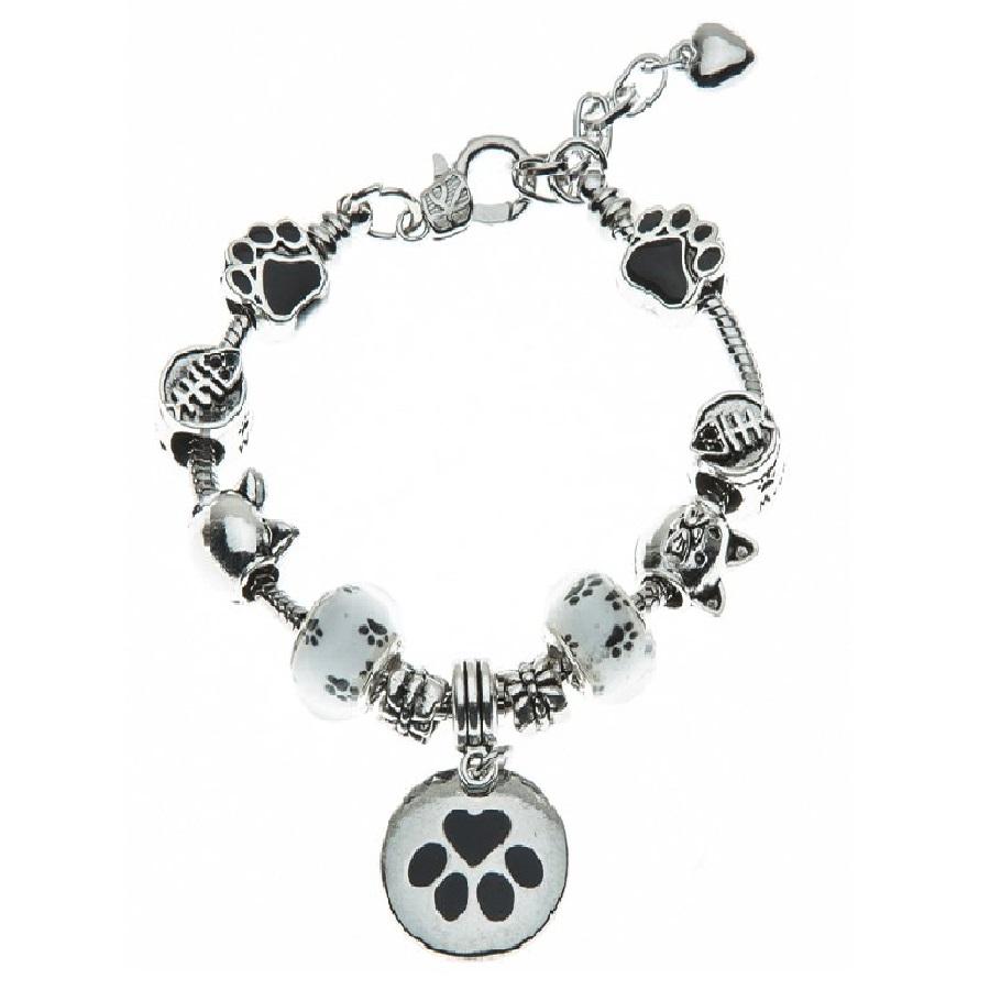 pulseras de acero inoxidable para mujer de gatos