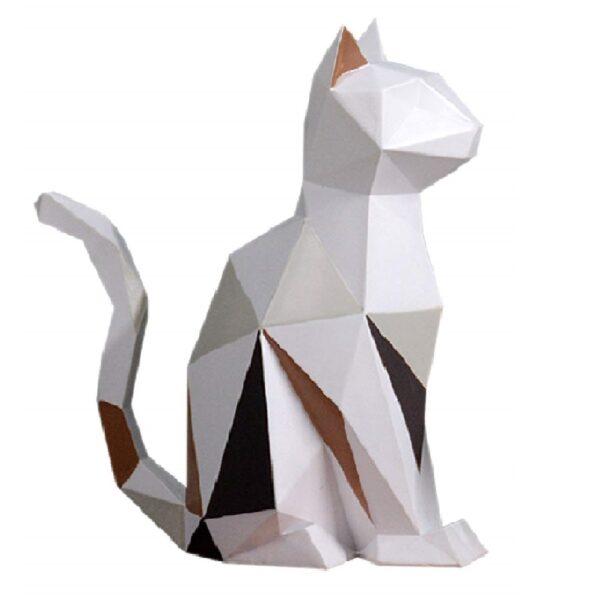 Figura decorativa de gatos geométrica para decoración del hogar
