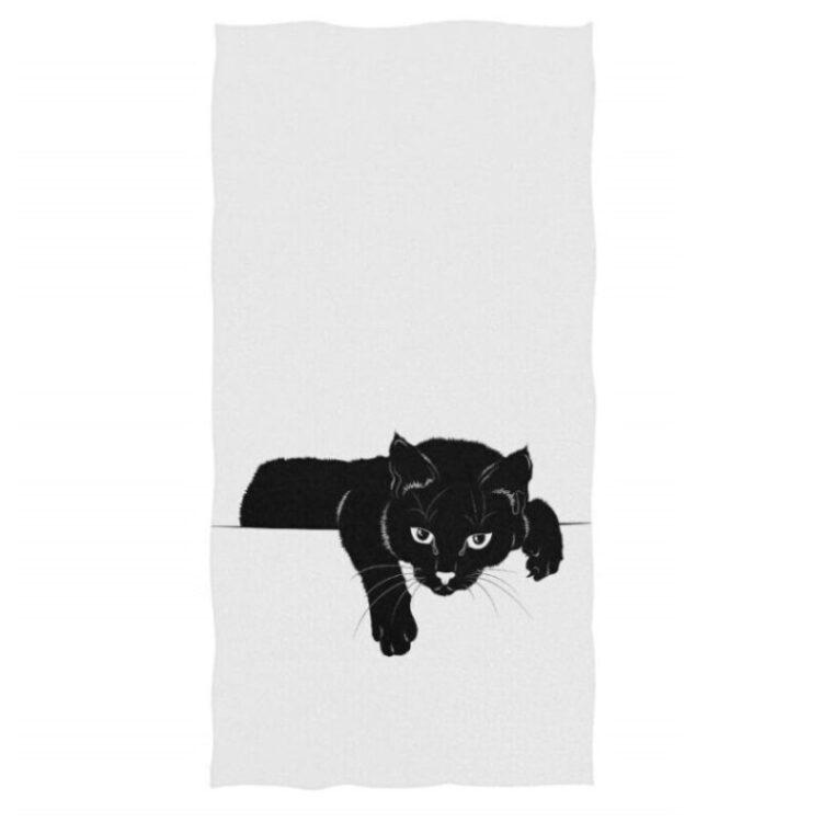 toallas de mano de baño de gatos