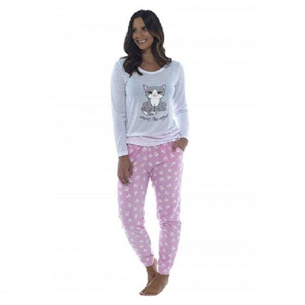 pijamas para dormir de mujer de gatos