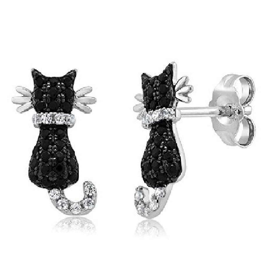 aretes de gato con piedras