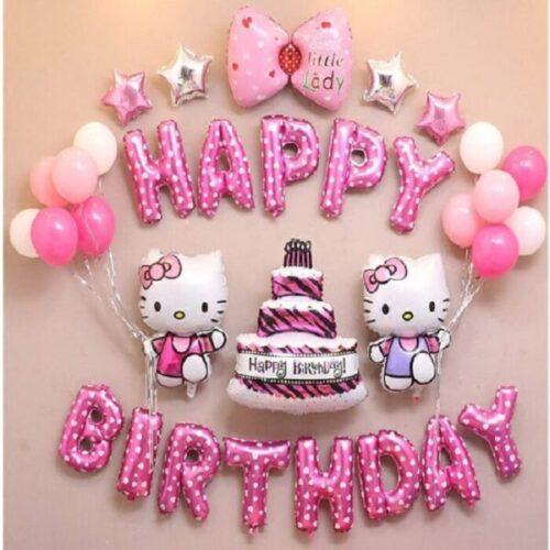 globo metálicos Hello Kitty de fiestas
