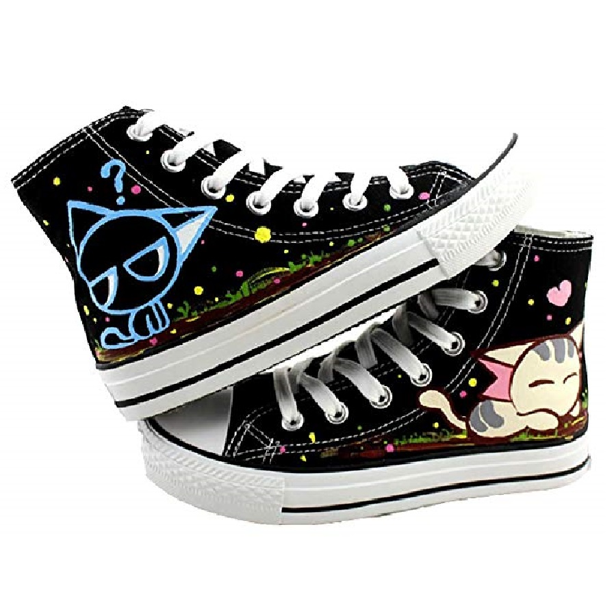 zapatillas altas de mujer moda de gatos