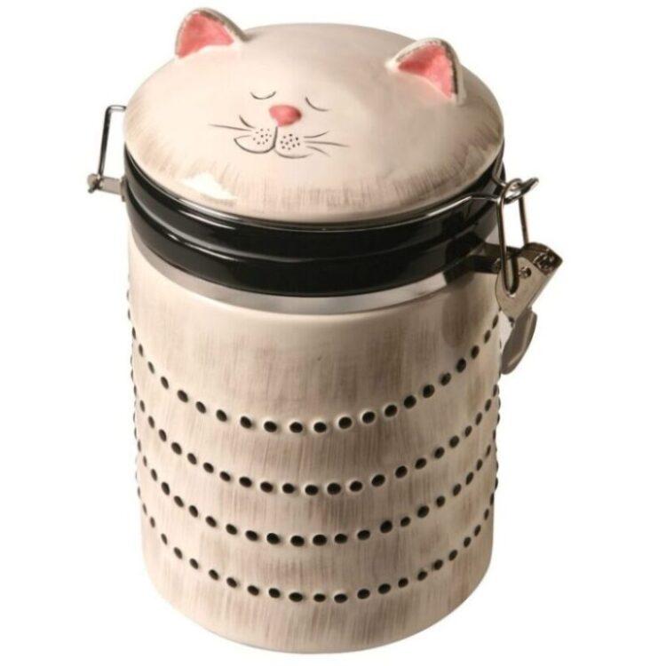 pomo de condimentos con tapa de cocina de gatos