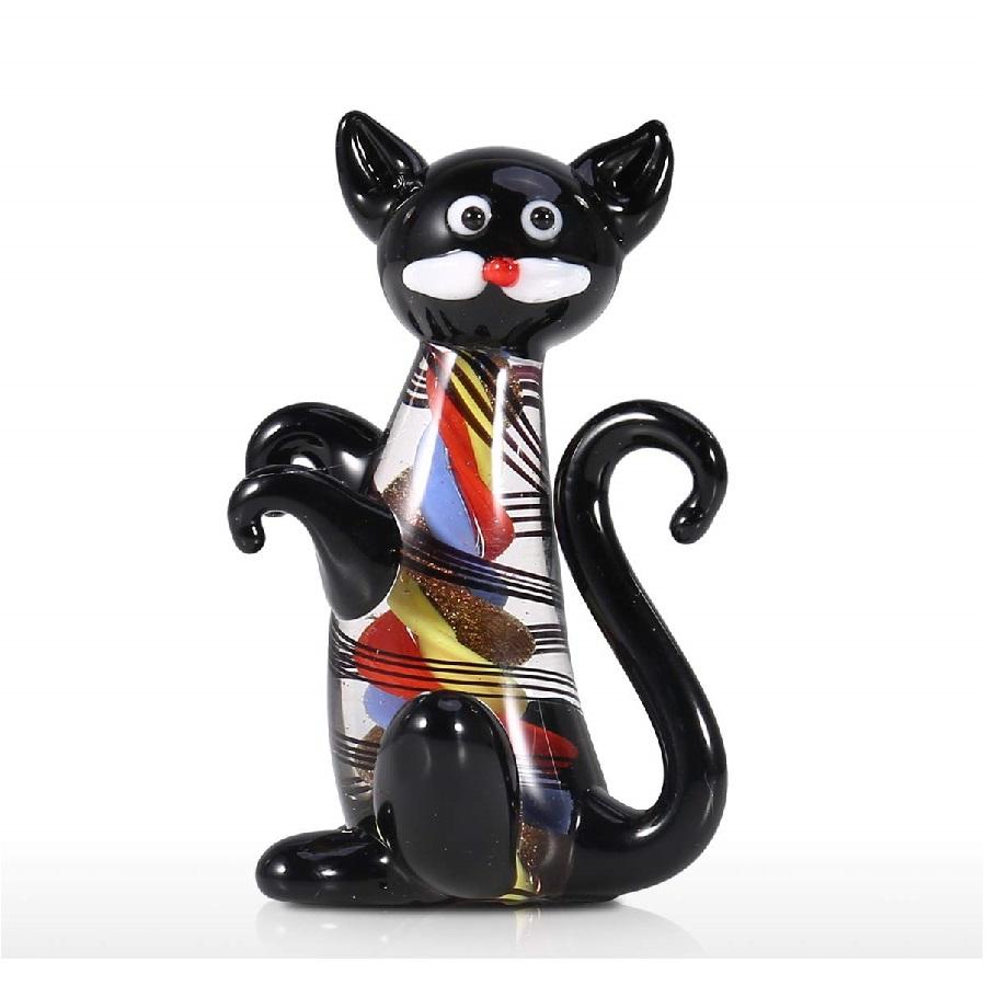 de gatos de cristal adornos coloridos