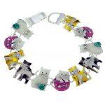 pulseras con dijes de gatos de colores