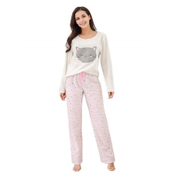 ropa de dormir mujer invierno de gatos