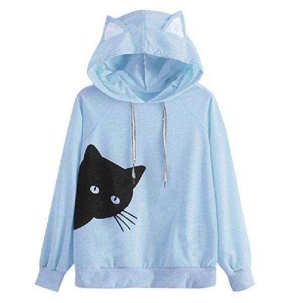 Sudadera ligera mujer de gatos