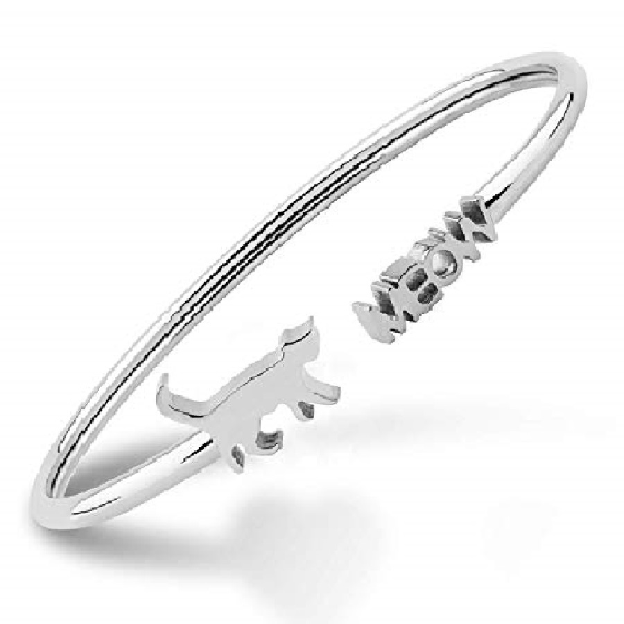 pulseras de plata de gatos