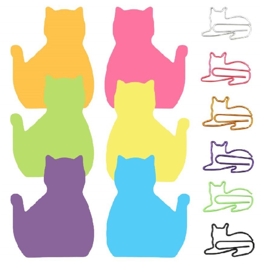 hojas de notas post it de gatos