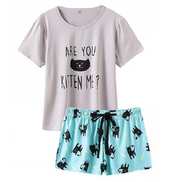 pijamas mujer sensual de gatos