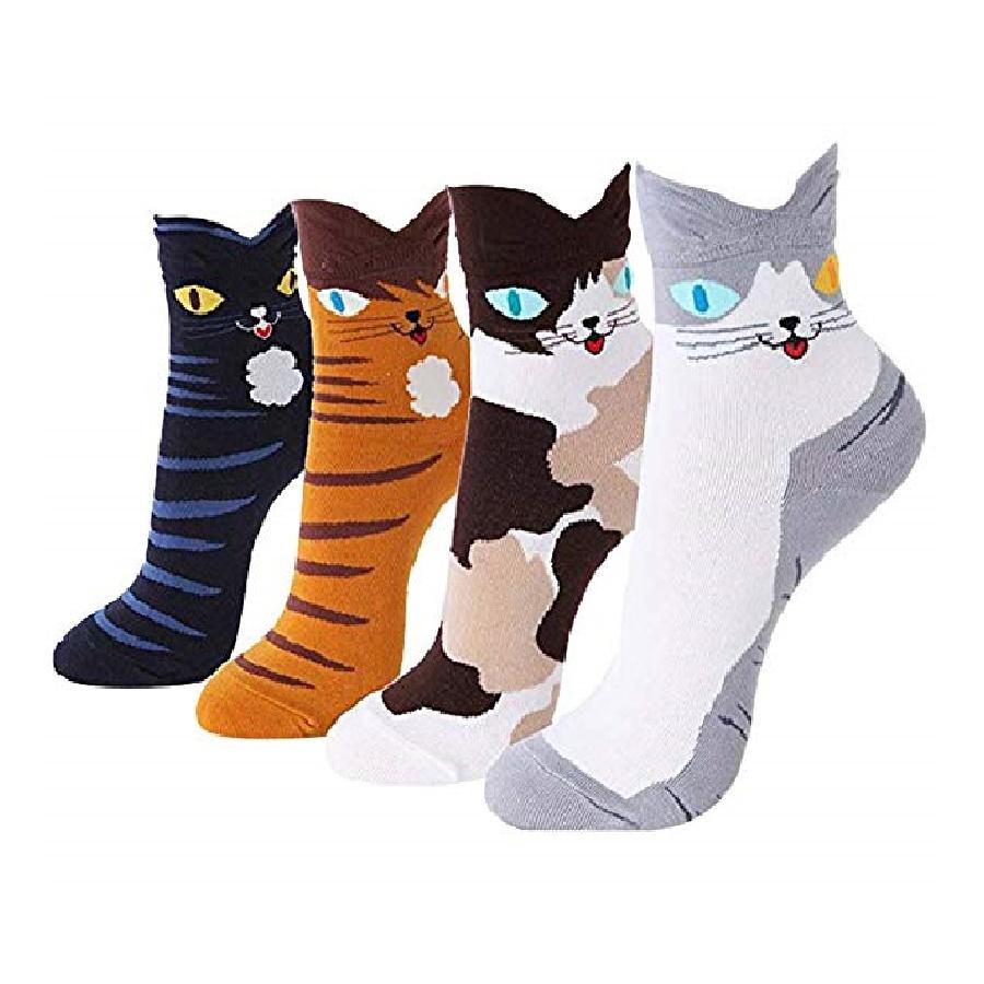 medias cortas al/tobillo de gatos
