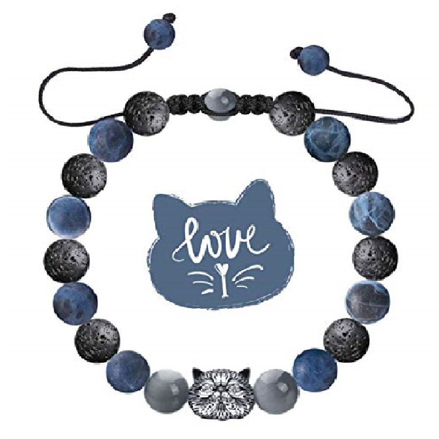 diseños de pulseras de piedras de cristal de gatos