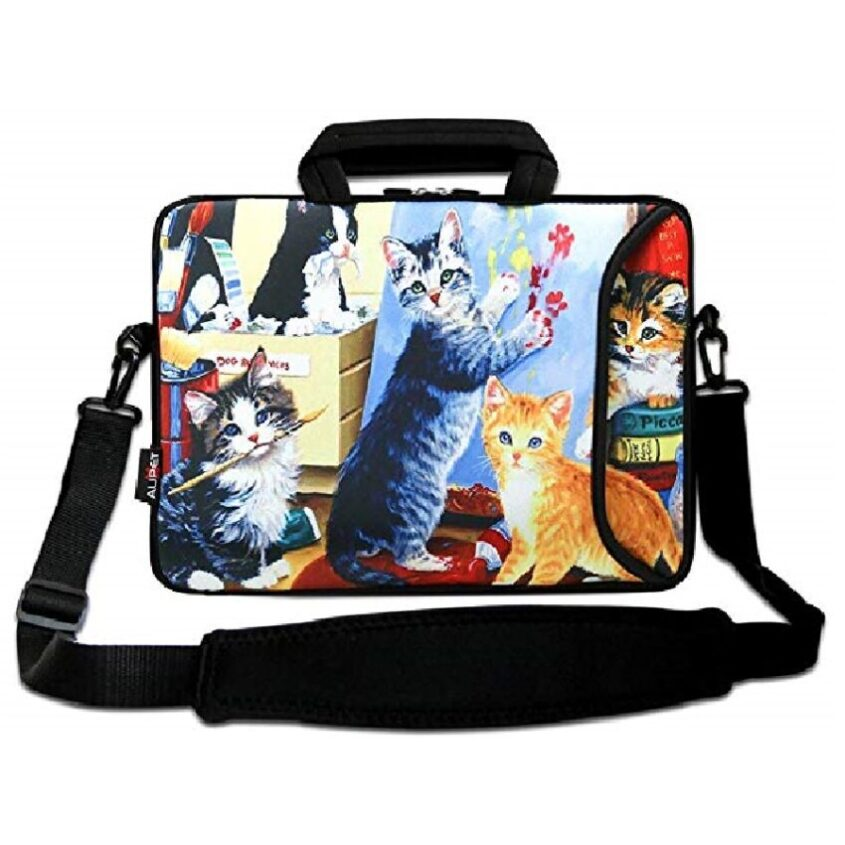 maletin targus para laptop de gatos