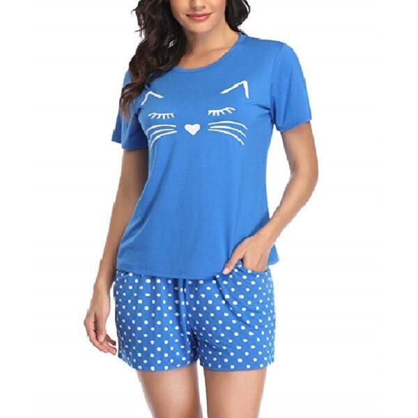 pijama corto mujer de gatos