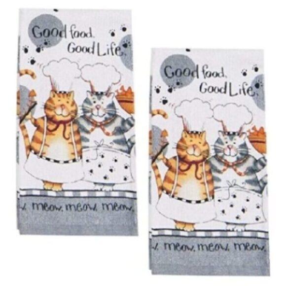 toallas de cocina decoradas algodón de gatos