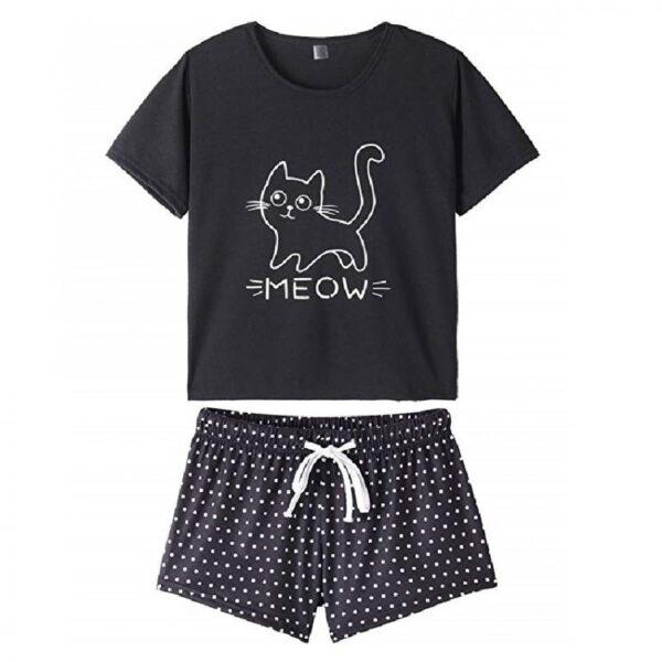 pijamas de mujer verano de gatos