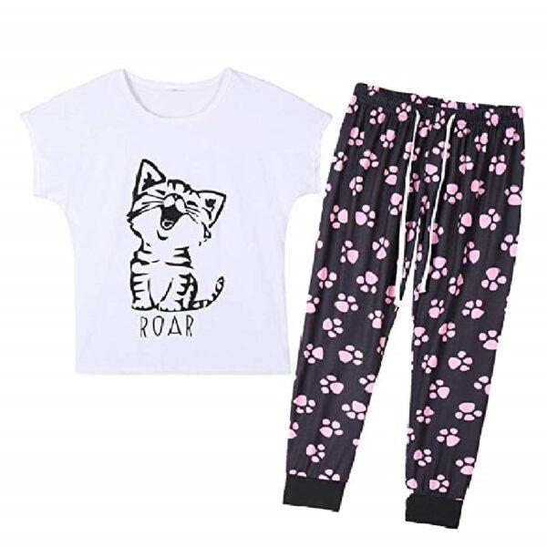 Conjunto de pijama para mujer diseño de gatos