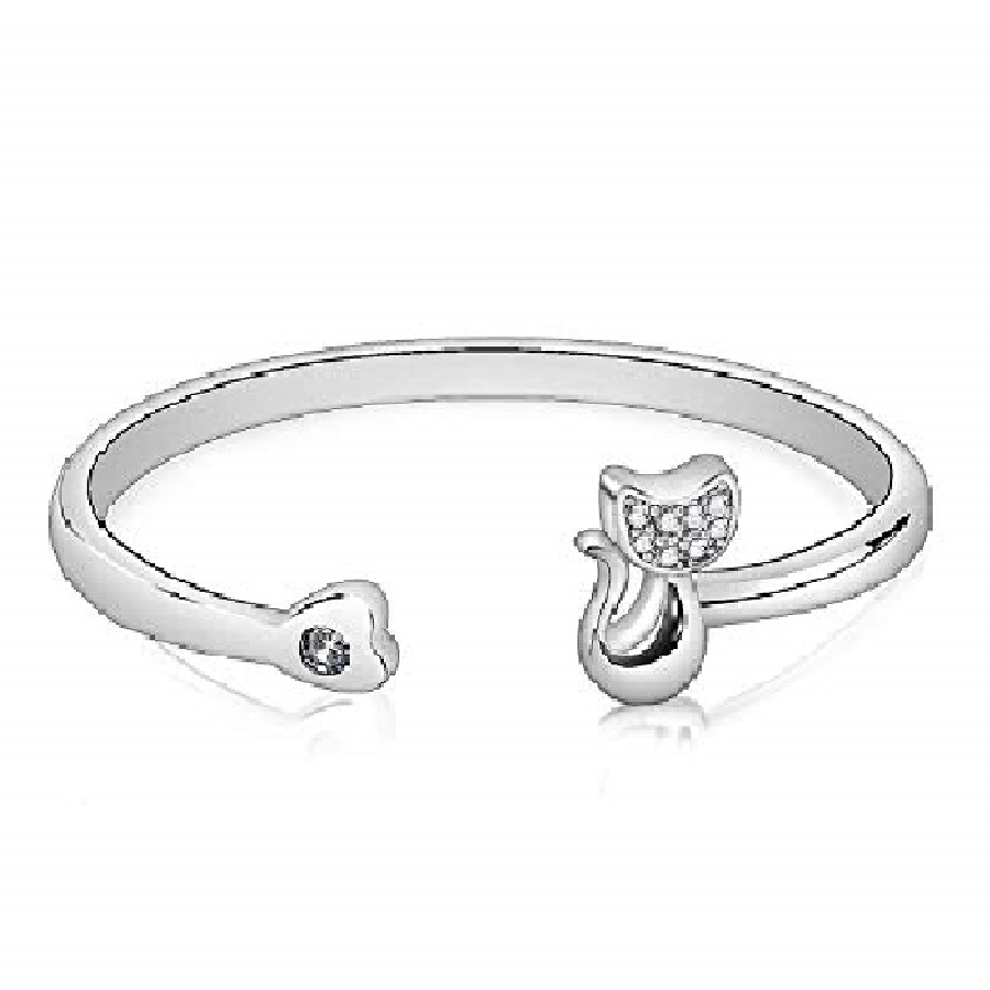 pulseras para mujer plata de gatos