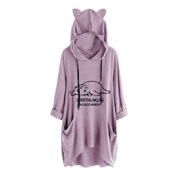 sudadera mujer capucha de gato