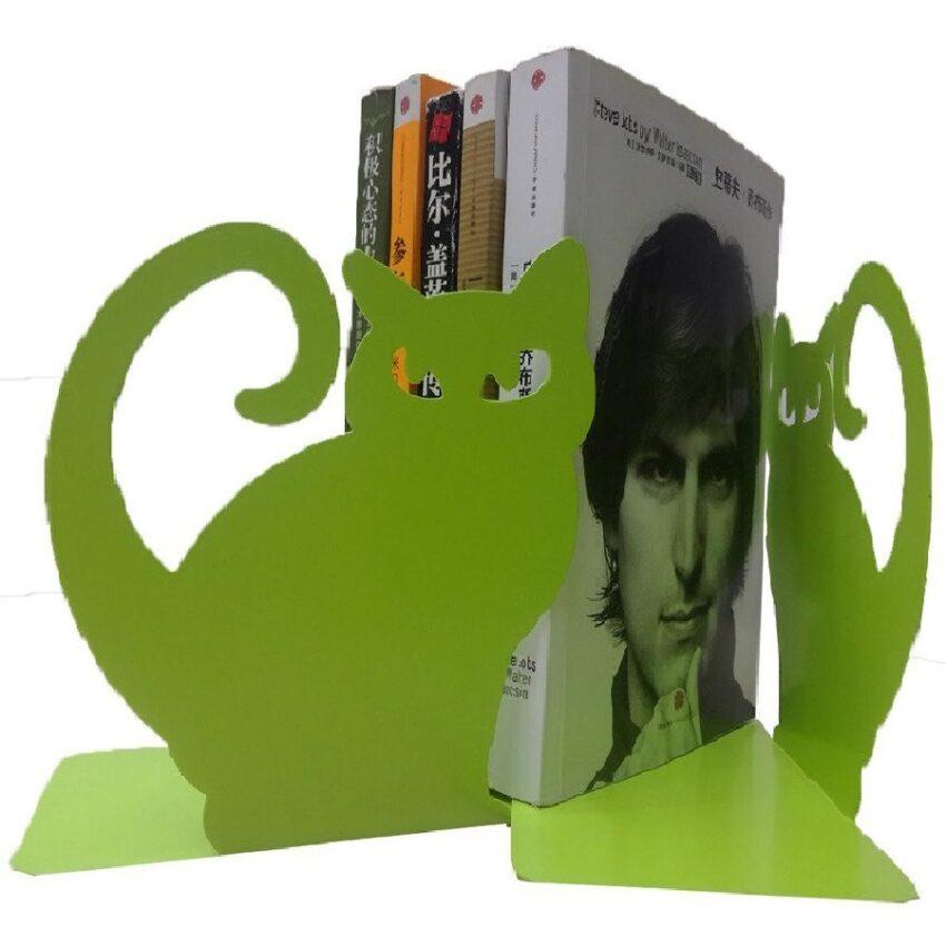 separador de libros de biblioteca de gatos
