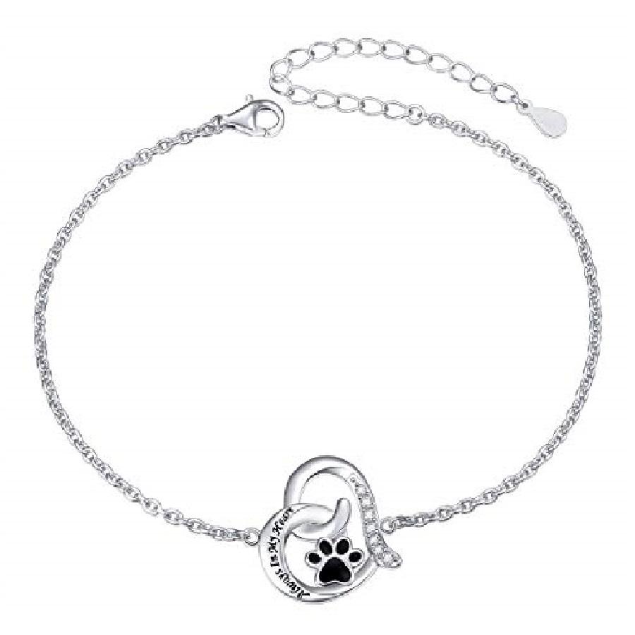 pulseras de plata para mujer con dijes de gatos