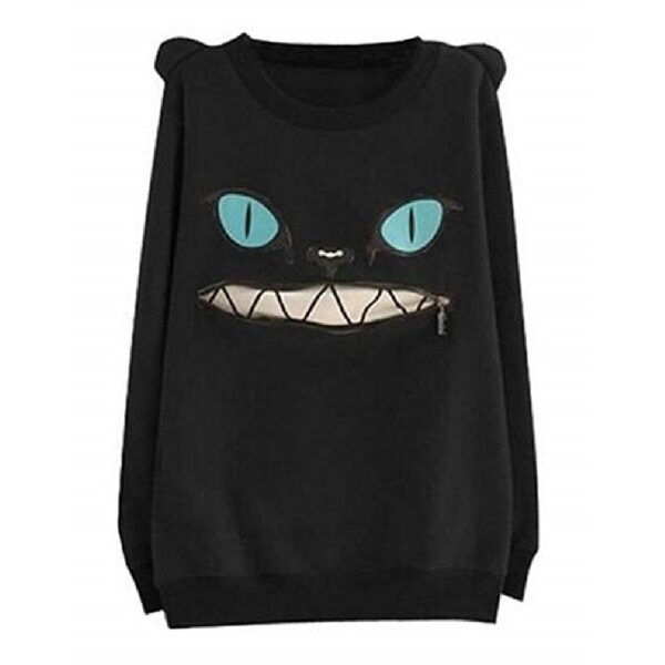 sudadera sonrisa de gato de alicia