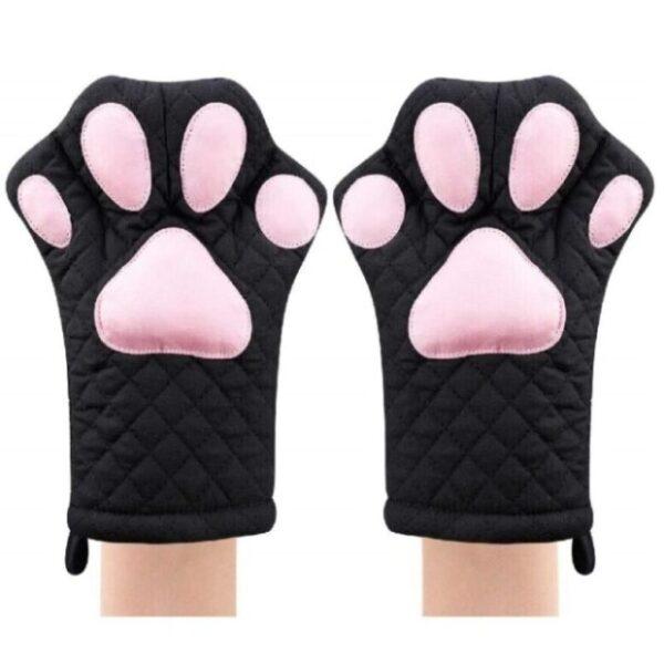 guantes para hornos acolchados de gatos