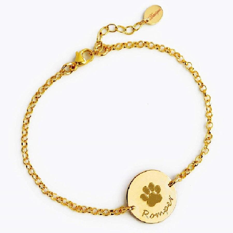 modelos de pulseras de oro para mujer de gatos
