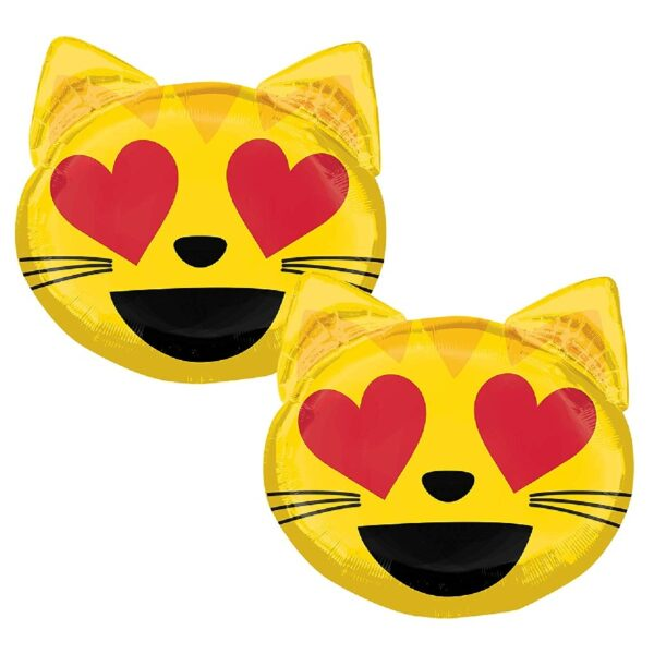 Globo de fiesta con diseño de gato sonriente