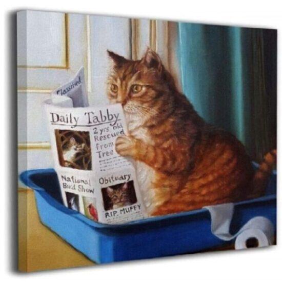 cuadros decorativos para baños modernos de gatos