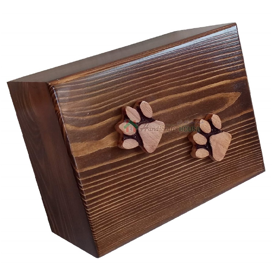 para cenizas de gatos urna de madera cremación de mascotas