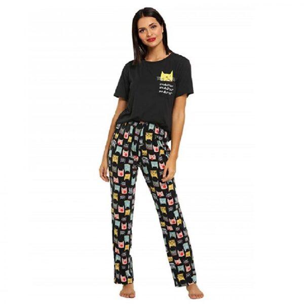 pijama mujer estampado de gatos