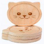 posavasos personalizados madera de gatos