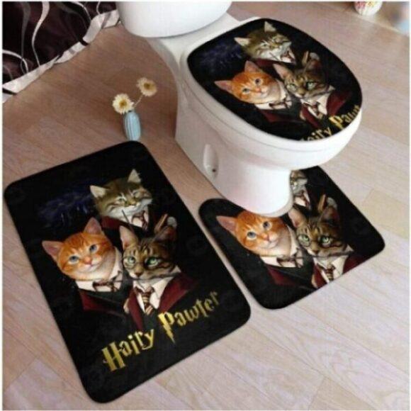 alfombras de inodoro de gatos