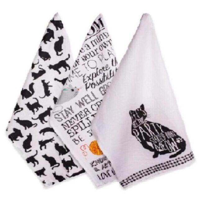 toallas de cocina decoradas de gatos