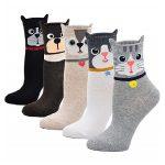 marcas de medias algodón para mujer de gatos