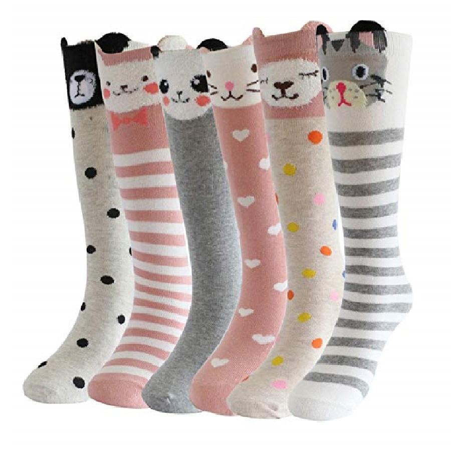 calcetines largos para mujer de gatos