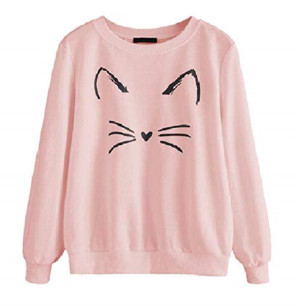 Suéter de manga larga para mujer de gatos