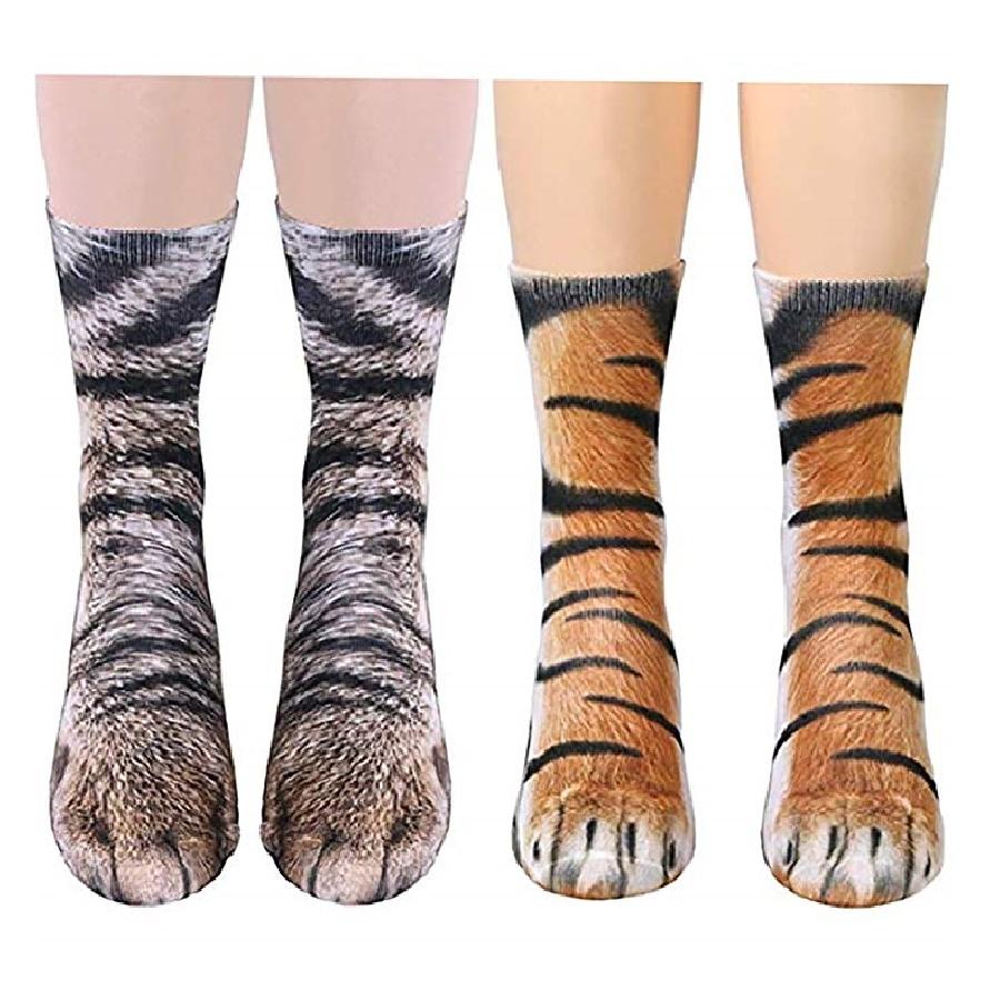 calcetines mujer de patas de gatos