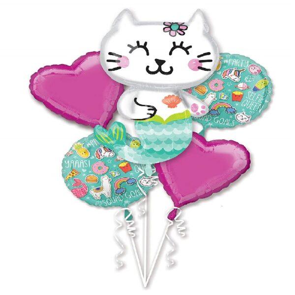 globo de fiesta sirena gato