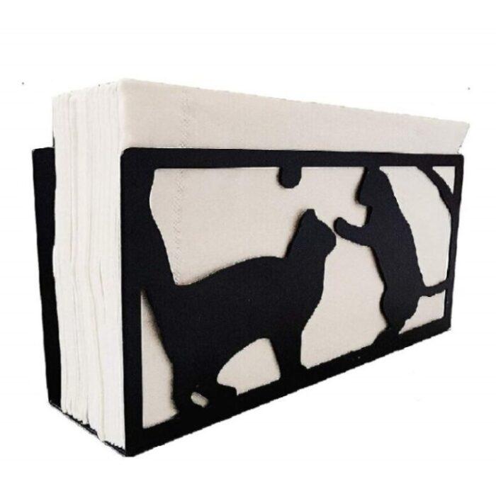 servilleteros decorados de gatos