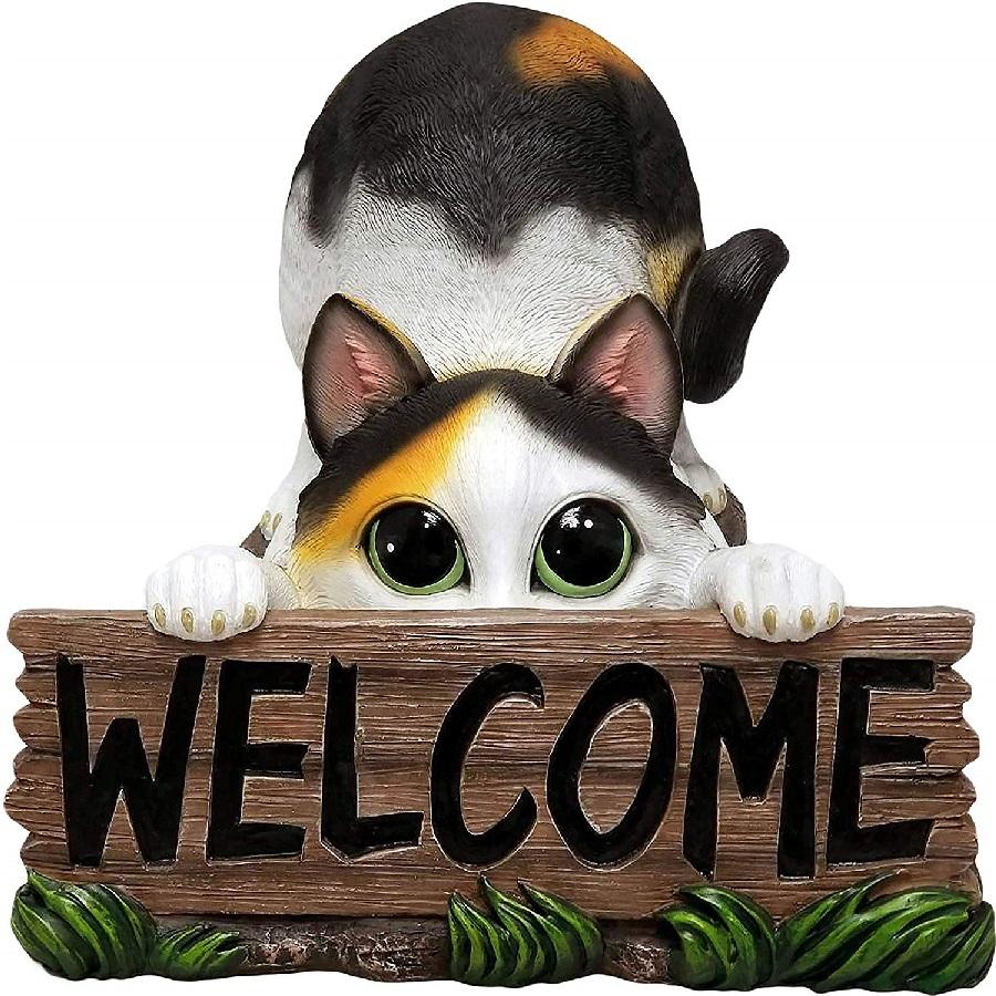 gato de bienvenida a casa